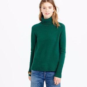 New J. Crew Turtleneck Sweater Wool Cashmere XXS